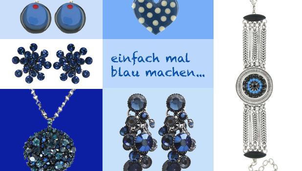 Schmuck in der Farbe Blau